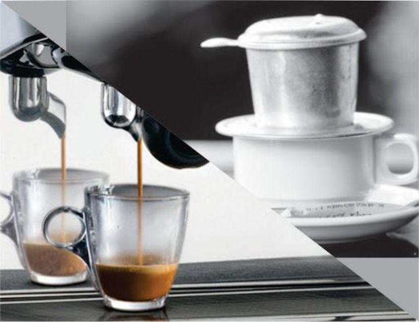 Việc so sánh cafe pha máy và pha phin không phải để phân cao thấp giữa hai cách pha chế